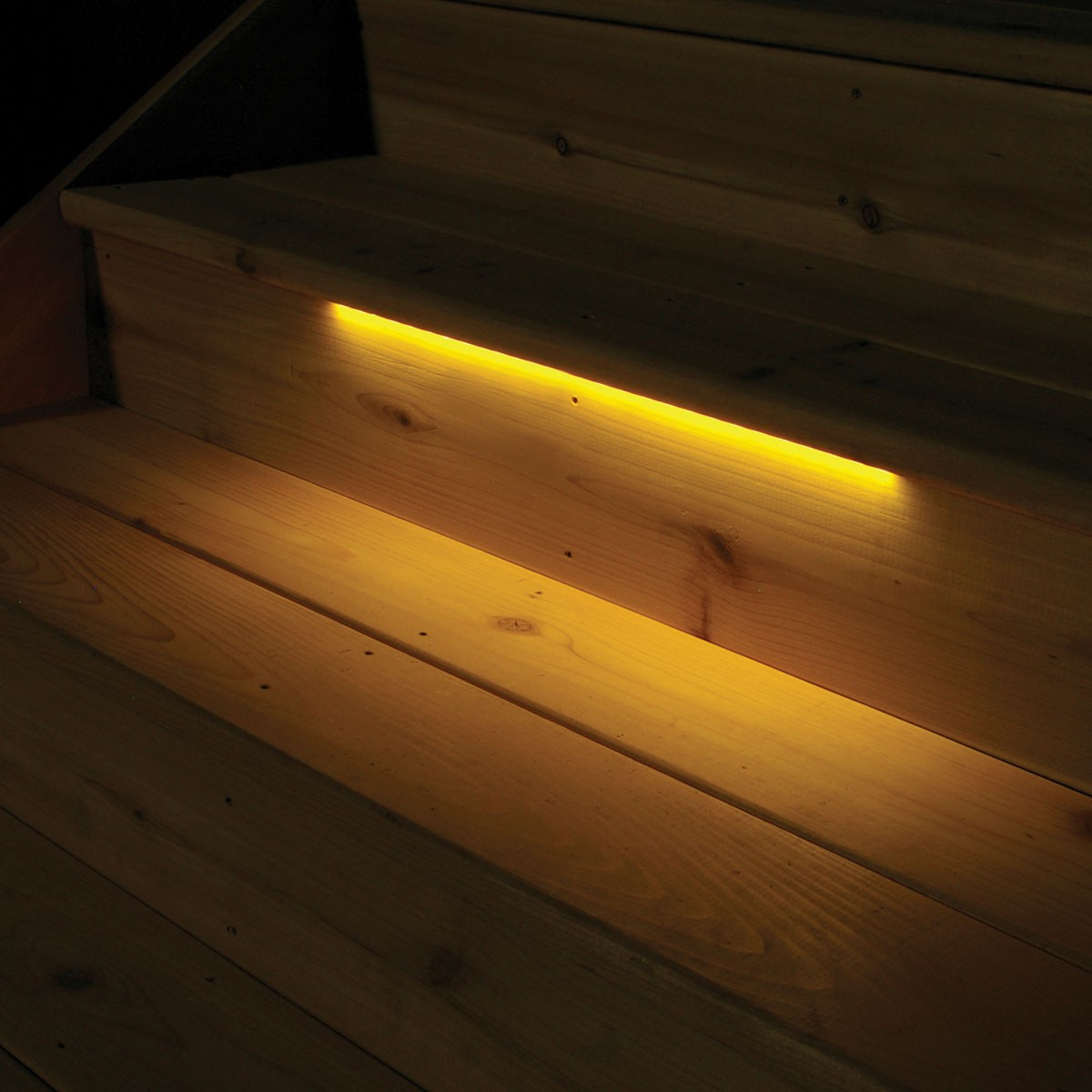 flat surface steps strip lights