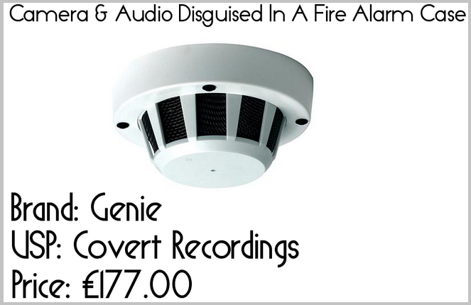 camera & audio disguised in fire alarm case