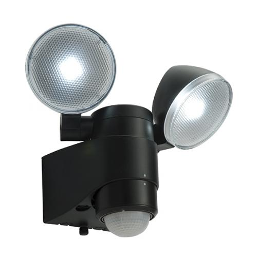 lighting twinspot saxby lighting laryn pir ip44 twin led wall