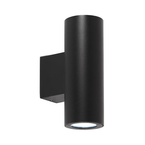 aurora lighting gu10 up down wall light indoor wall lights au wdl412blk uk. Black Bedroom Furniture Sets. Home Design Ideas