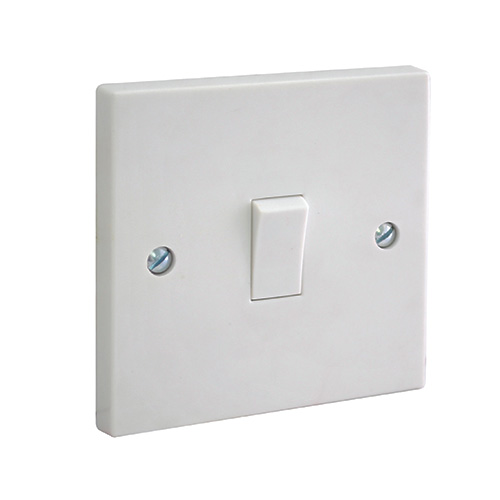 Bg Electrical 1 Gang 2 Way Plate Switch  Moulded