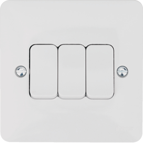 hager 3 gang 2 way wall switch  hager sollysta switches