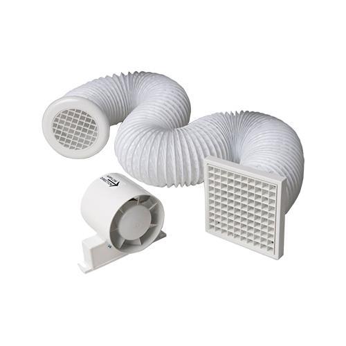Manrose in line shower fan kit, extractor fan with timer ...