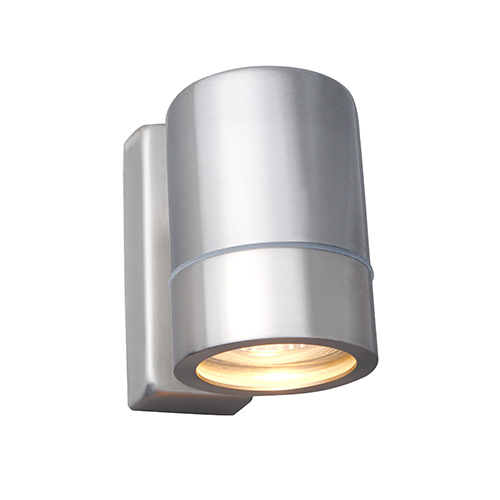 Brushed Chrome Indoor Wall Lights : Single GU/GZ10 wall light, wall lighting, outdoor light, R135-13, Robus UK