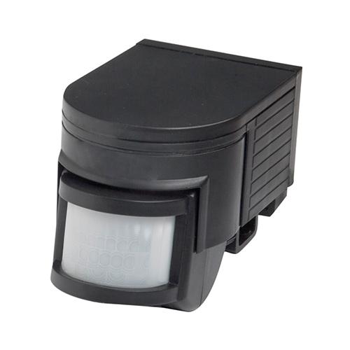 Motion detector 180D PIR black, external PIRs, lighting, R180-04, Robus UK